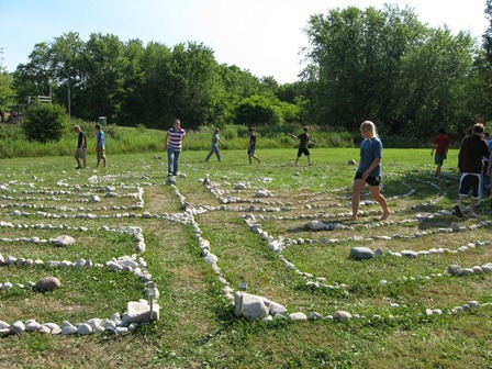 labyrinth was built in 2009 by our grade eight camp and LITS