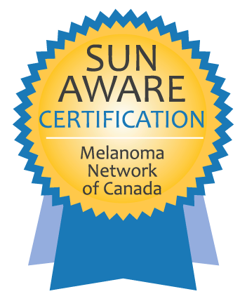 Sun Aware Certifications - Melanoma Network of Canada. Link opens a new tab/window.