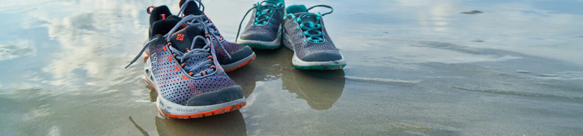 Running Shoes on Beach