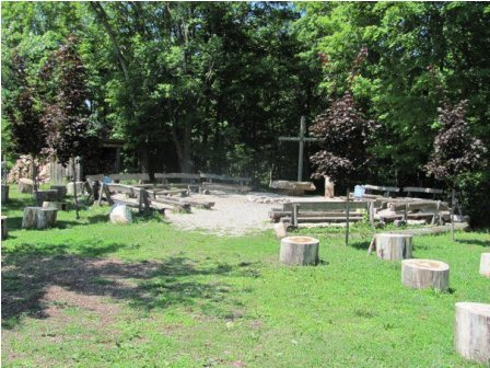 Outdoor Chapel and Campfire CIrcle.