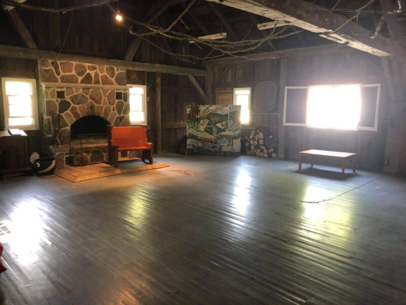 Interior of Camp Huron chapel.