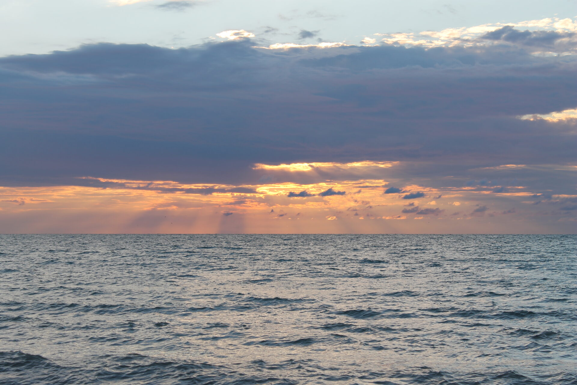 glorious sun over Lake Huron